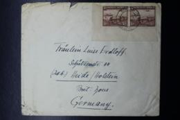 South West Africa: Cover SOBABIS-> Germany Corner Piece  SG 96  29-10-1947  Mi 180 + 181 - Südwestafrika (1923-1990)