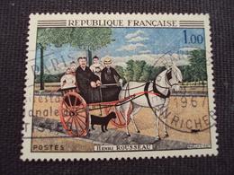 """60-69- Timbre Oblitéré N°  1517  """"  Carriole Du Père Juniet Par Rousseau   """"  0.50 - Francia"""