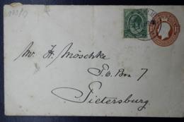 South Africa: Cover LUNSKIP -> Pietersburg 1924 Uprated - Briefe U. Dokumente