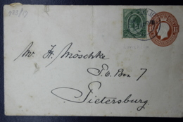 South Africa: Cover LUNSKIP -> Pietersburg 1924 Uprated - Zuid-Afrika (...-1961)
