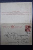 South Africa: Lettercard Hermanus -> Somerset West  Type L1 - Briefe U. Dokumente