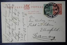 South Africa: Postcard P7  Ermelo -> Germany 27-6-1923 Uprated - Briefe U. Dokumente