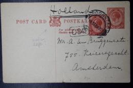 South Africa: Postcard  Uprated Kroonstad -> Amsterdam  18-9-1922 - Briefe U. Dokumente