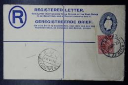 South Africa: Registered Cover Uitenhage -> The Hague 30-5- 1923  HG 5 Uprated - Briefe U. Dokumente