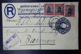 South Africa: Registered Cover Somerset West -> Barmen  R6 B 152 * 95 Mm Uprated - Briefe U. Dokumente