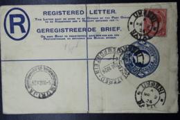 South Africa: Registered Cover UMGENI Natal -> Morija Basutoland 2-3-1926 Uprated Handwritten R Nr Rail662 - South Africa (...-1961)