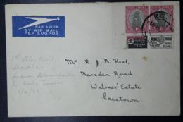 South Africa: Registered Cover Capetown -> London Uprated  R6B 22-9-1927 - Briefe U. Dokumente