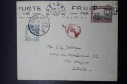 South Africa: Cover Pretoria -> The Hague Taxed 20 Cent. / Stamp Of 10 Cent 1928 - Briefe U. Dokumente