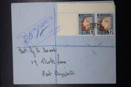 South Africa: Registered Cover Port Elizabeth -> Local Corner Sheetmargin Sg 75 Mi 167 - 168 1937 - Briefe U. Dokumente