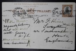 South Africa: Postcard P9 Toverwaterpoort Cape -> London - Briefe U. Dokumente