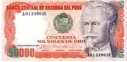 Peru P.125  50000 Soles 1981 Unc - Peru