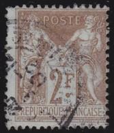 France   .   Yvert    .    105      .      O      .     Oblitéré - 1898-1900 Sage (Type III)