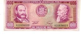 Peru P.105 1000 Soles 1971  Xf+ - Peru