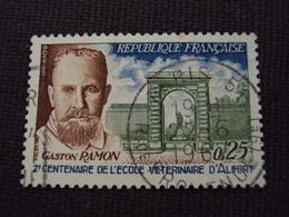 """60-69- Timbre Oblitéré N°  1527  """" Gaston Ramon, Biologiste Vétérinaire    """"  0.25 - France"""
