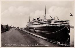 "BATEAU / SHIP / PAQUEBOT "" JOHAN VAN OLDENBARNEVELT "" - IJMUIDEN - CARTE VRAIE PHOTO / REAL PHOTO ~ 1930 - '935 (aa905) - Roemenië"