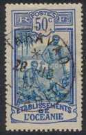 Océanie 1913-1930 - Oblitération De Taravao / Ile Tahiti Sur N° 54 (YT) N° 56 (AM). - Oceania (1892-1958)