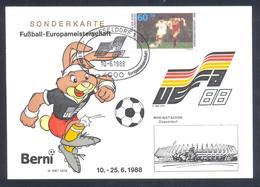Germany 1988 Maximum Card; Football Soccer Fussball Calcio; UEFA EURO 1988; Rheinstadion Düsseldorf - Fußball-Europameisterschaft (UEFA)