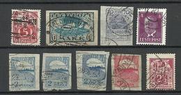 ESTLAND Estonia 1919-1936 Lot Railway Eisenbahn Cancels 10 Stamps - Estonia