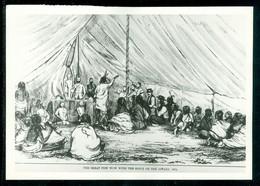 Indiens Sioux; POW WOW Le 13 Août 1874; Membres De La North West Mounted Police Présents (5101) - Non Classés