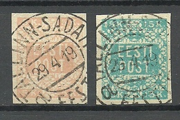 ESTLAND ESTONIA 1918/1919 Michel 1 - 2 O Very Good Cancels - Estonia