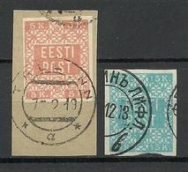 ESTLAND ESTONIA 1918/1919 Michel 1 - 2 O Better Cancels - Estonia