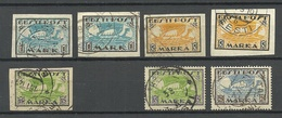 Estland Estonia 1919-1922 Wiking Ship Almost Complete Set (1 Stamp Missing) O - Estonia