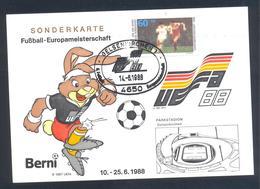 Germany 1988 Maximum Card; Football Soccer Fussball Calcio; UEFA EURO 1988; Parkstadion Gelsenkirchen - Fußball-Europameisterschaft (UEFA)