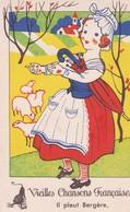 """Vieilles Chansons Françaises """" IL PLEUT BERGERE """" (Pub : Produits Du LION NOIR ) - Enfants"""