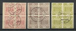ESTLAND ESTONIA 1918/1919 Michel 1 - 2 & 4 As 4-Blocks O - Estonia