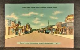 1940 Posted CD JUAREZ - CHIHUAHUA MEXICO View PC By Sandoval News Service PC, Juarez Avenue Street Scene - Mexico
