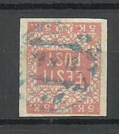ESTLAND ESTONIA 1918 KOLK (Kolga) H&O 48:1 Provisional Cyrillic Cancel Michel 1 - Estland