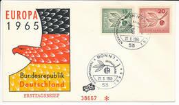 FDC Mi 483-84 - 27 September 1965 - CEPT Europa - [7] Federal Republic