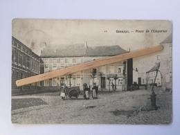 GENAPPE»PLACE DE L'EMPEREUR «Panorama,animée ,marchant Ambulant (1906). - Genappe