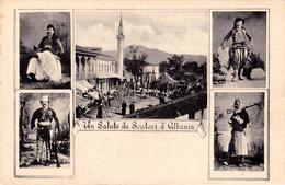 UN SALUTO Da SCUTARI D'ALBANIA / SHKODRA - ANNÉE / YEAR ~ 1910 - '915 (aa910) - Albanie