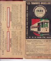 LES TRAMWAYS BRUXELLOIS AN 1935 GUIDE MAPS SCHEDULE ROUTES - BLEUP - Altri