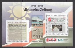 2016 Namibia Newspaper  Souvenir Sheet  MNH - Namibia (1990- ...)
