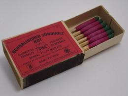 Ancienne Boite D'allumette - Tous Pays, à Consulter ! - BENGALISCHES ZUNDHOLZ ROT - STAR - Matchboxes