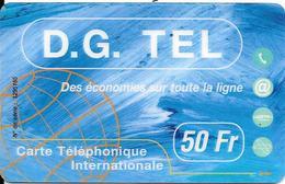 CARTE-PREPAYEE-BELGE-50F-BELGACOM-DG TEL-30/06/2001 -TBE-Tres Leger Impact En Bas--TRES-RARE - Belgique