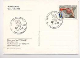 VIAREGGIO-CARTOLINA CON ANNULLO ANNO 1998 - Viareggio