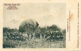 Rotes Kreuz N. 43 Der Beobachtungsballon Der Festung Przemysl - Guerra 1914-18