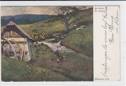 Massmann : Am Bache / Au Ruisseau. Wassermühle / Moulin à Aubes - Peintures & Tableaux