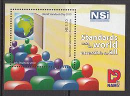 2010 Namibia World Standards Day  Souvenir Sheet MNH - Namibia (1990- ...)