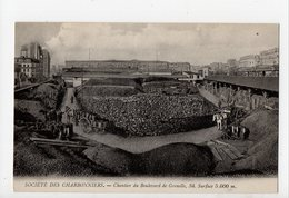 PARIS 15ème - SOCIETE DES CHARBONNIERS - Chantier Du Boulevard De Grenelle - Sant'Elena