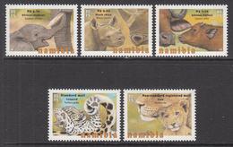 2015 Namibia Animal Babies Lion Rhino Elephant  Complete Set Of 5 MNH - Namibia (1990- ...)