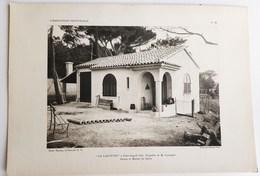 """SAINT-AYGULF VILLA """" LA LAUVETTE """" A Mr. LANGUEST VAR ARCHITECTURE PLAN ARCHITECTE RENE GARDE GRANDE PLANCHE 32 X 22 CM - Saint-Aygulf"""
