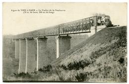 14 : LIGNE DE VIRE A CAEN - LE VIADUC DE LA SOULEUVRE - TRAIN - France