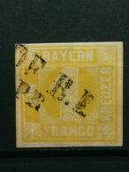 Altedeutschland Bayern Mi-Nr. 8 Gestempelt Luxus Erhaltung - Bavaria