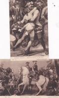 Militaria Lot 2 Cpa BATAILLE DE FONTENOY ( 11 Mai 1745) Par Horace VERNET (+ Pub HORSINE Suc De Viande De Cheval) - Andere Kriege