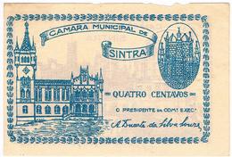 SINTRA- CÉDULA DE 2 CENTAVOS DA CÂMARA MUNICIPAL DE SINTRA. - Portugal