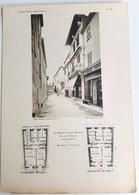 SAINTE-MAXIME MAISON PROVENCALE MODERNE M. IMBERT ARCHITECTURE PLAN ARCHITECTE RENE GARDE GRANDE PLANCHE 32 X 22 CM - Sainte-Maxime